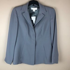 petite sophisticate gray blazer